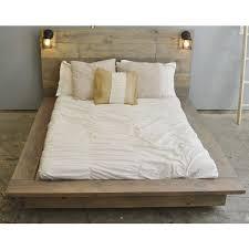 wood platform bed queen frame decorations