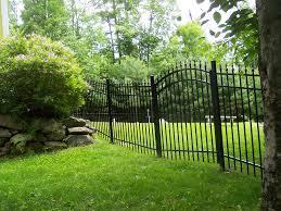 ornamental steel aluminum hill fence