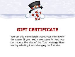 pages templates for gift certificate sle gift certificate snowman sle gift certificate printable