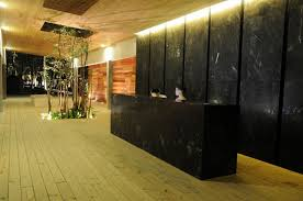 Small White Reception Desk by Luxury Reception Desk With Wood And Stone Design For Beauty Salon
