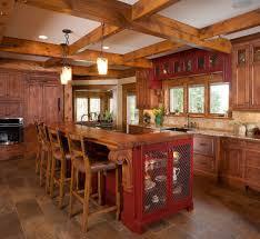 kitchen gorgeous rustic kitchen decoration with log bar kitchen