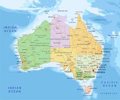 map of australia political map australia
