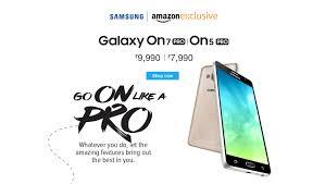 amazon pro samsung galaxy on7 pro and on5 pro smartphones buy samsung galaxy