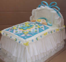 ideas for baby shower cakes rectangle white blue flower pattern