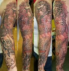 collection of 25 tiger vs sleeve tattoos