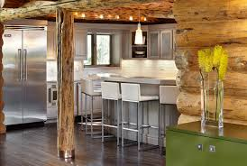 modern log home interiors rustic log retreat blends modern accents and spectacular views