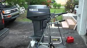 yamaha 25hp 2 stroke starting problem solved youtube