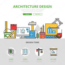 linear flat website infographics template and icons website hero