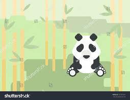 panda bear flat design cartoon vector stock vector 221871667