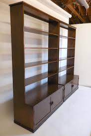 custom walnut wood bookshelf with iron base for sale at 1stdibs