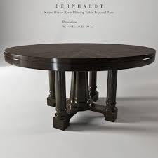 bernhardt round dining table bernhardt sutton house round dining table top and bas 3d model max