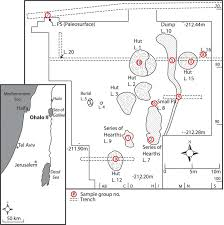 location map of ohalo ii and detailed site plan with phytolith