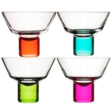 cocktail glass set sagaform club martini glasses colourful cocktail glasses