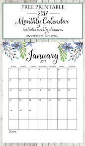 2017 free printable monthly calendar free printable monthly