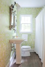 White And Green Bathroom - white and green bathroom with faux bois mirror contemporary
