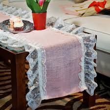 Burlap Lace Table Runner Pink Lace Table Runner Love Burlap Custom Burlap Aisle Runners