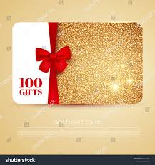 gift card discount gold gift coupon gift card discount stock vector 342616586