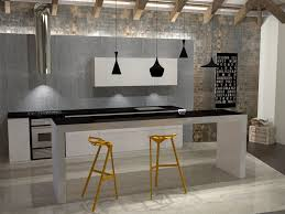 kitchen luxury industrial kitchen design black pendant lamp