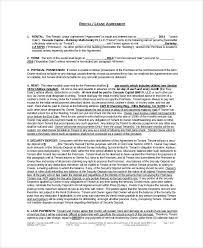 rental agreement template 9 free word pdf documents download
