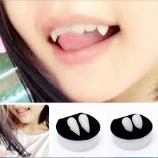 aliexpress com buy 1pair horrific dress vampire teeth halloween