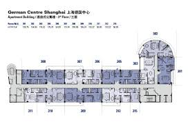 floor plans of the german centre shanghai apartment building in pudong