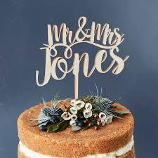 mr and mr cake topper personalised mr and mrs wooden cake topper by
