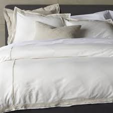 Natural Linen Duvet Cover Queen Bianca White Natural Full Queen Duvet Cover Crate And Barrel