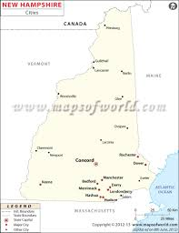 Blank Map Of Canada With Capital Cities by Cities In New Hampshire New Hampshire Cities Map