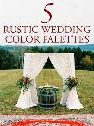 rustic wedding 5 rustic wedding color palette ideas junebug weddings
