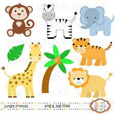 animals in the jungle clipart clipartxtras