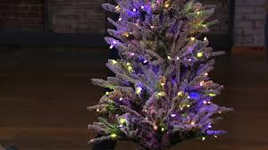 santa u0027s best snow flurry christmas tree w 7 function lights on