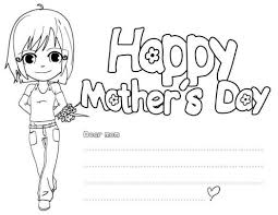 mothers day coloring pages card coloringstar