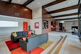 the den at dining in the multi level living areas add to the architectural character of