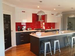 Red Cabinet Kitchen Design Red Glossy Glass Kitchen Backplash White And Grey Stylish