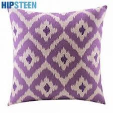 Interior Decor Set Two Velvet Purple Decorative Pillows For