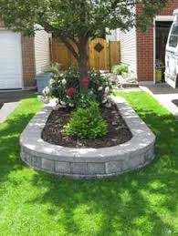 Ideas 4 You Front Lawn Landscaping Ideas To Hide Septic Lids Placing Rocks Between The Wall And The Flower Beds Keep The Plants