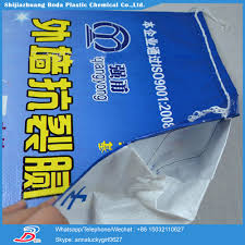 laminated 50kg polypropylene raffia empty woven cement bags size