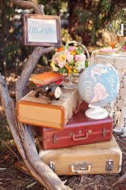 travel themed wedding 42 adorable vintage suitcases wedding ideas deer pearl flowers