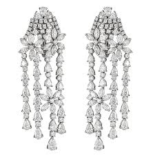 gold chandelier earrings white gold chandelier earrings with and fancy cut diamonds