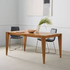 Real Wood Dining Room Furniture Extraordinary Solid Wood Dining Table Of Caramel West Elm
