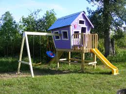 Backyard Swing Plans by Crooked Playhouse Plans