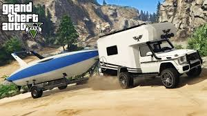 jeep camping mods gta 5 off road 4x4 boat hauling w mercedes benz g wagon camper