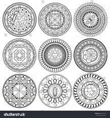 set geometric ornaments stock vector 424538776