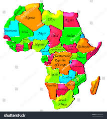 Ghana Africa Map Colorful Political Map Africa Stock Illustration 399824566