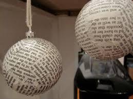 paper mache tree lights decoration