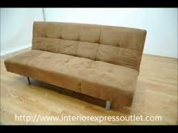 interiorexpress outlet tan microfiber convertible sofa bed futon