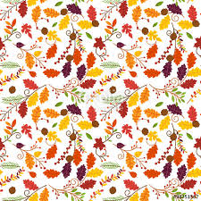 fall autumn or thanksgiving vector flower pattern seamless and