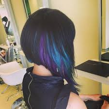 short hairstyles with peekaboo purple layer 35 gorgeous peekaboo highlights to enhance your hair