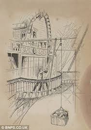 intricate sketches by an english student in paris showing the