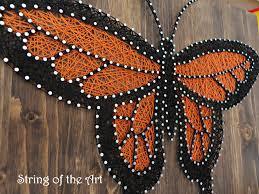 diy string art kit butterfly string art monarch butterfly